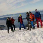 1. den - vrcholovka na kopci Tarløysa 1086 m n.m.